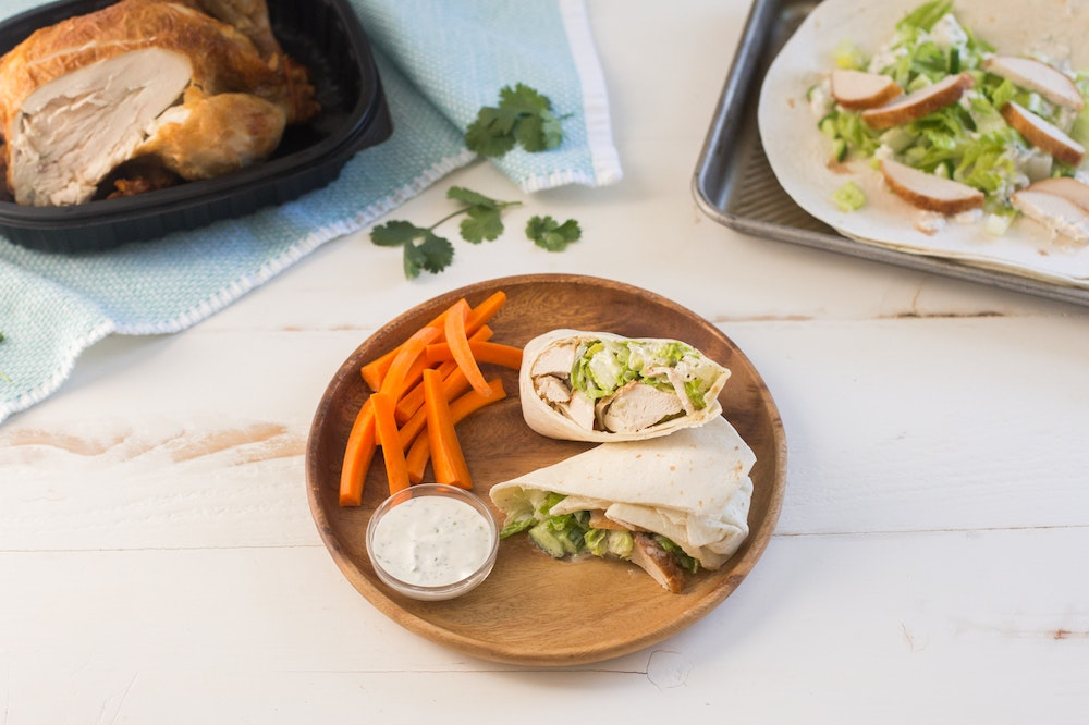 Rotisserie Chicken Ranch Lettuce Wraps