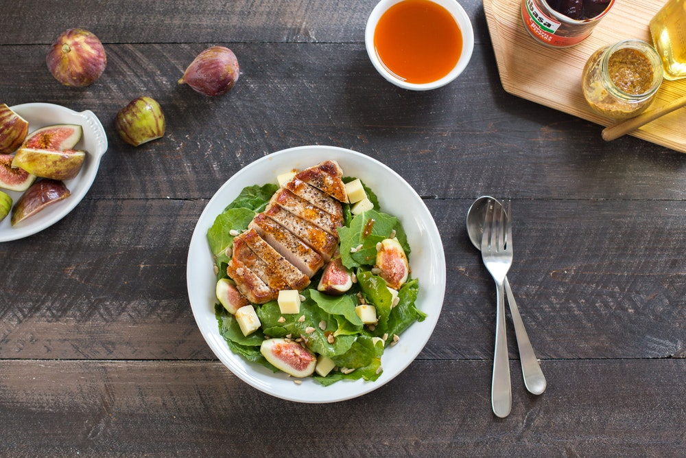 Pork Chop and Fig Salad