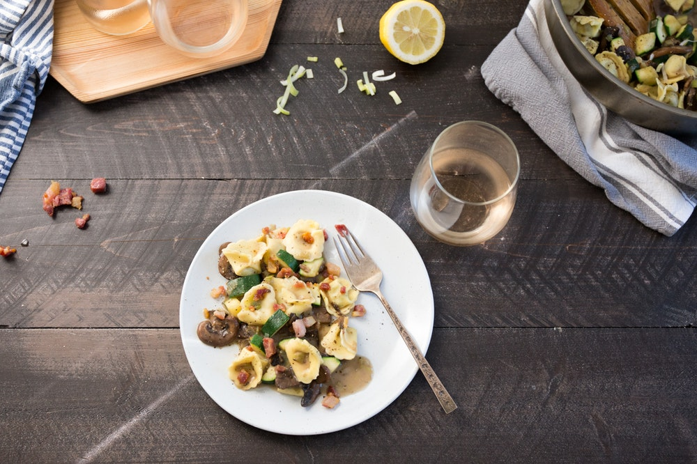 Gnocchi and Mushroom Saute