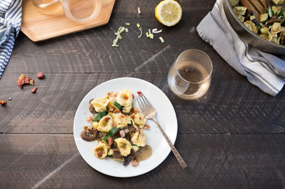 Tortellini and Mushroom Saute