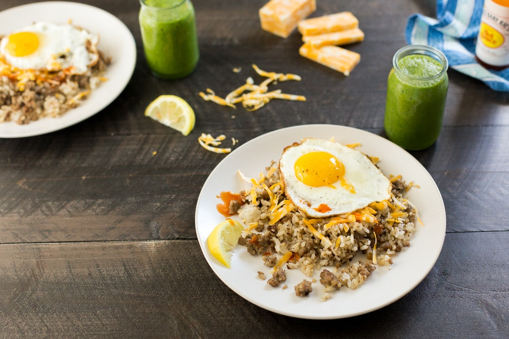 Breakfast Fried Rice with Sausage