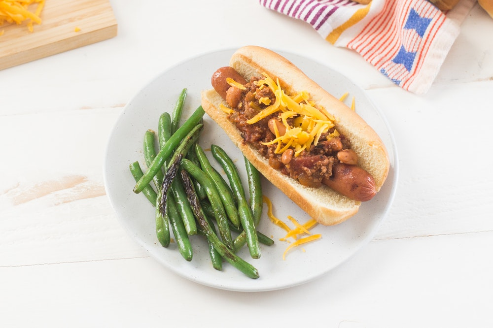 {Leftover} Chili Sausage Dogs