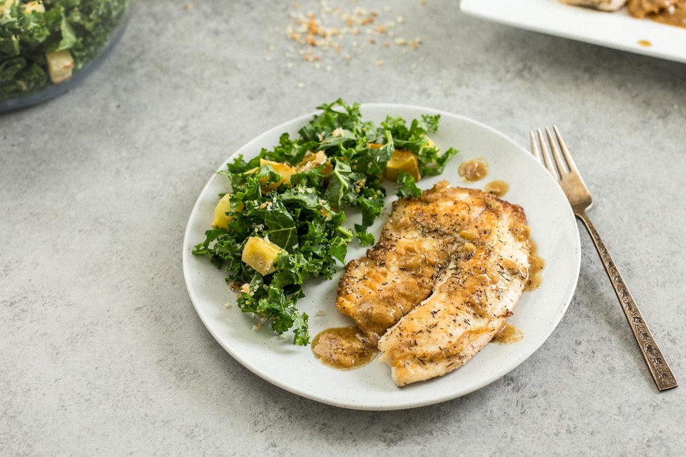 Tilapia with Mustard-Thyme Sauce