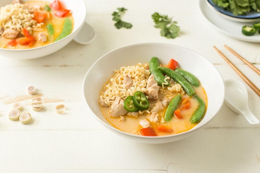 Red Curry Chicken Ramen