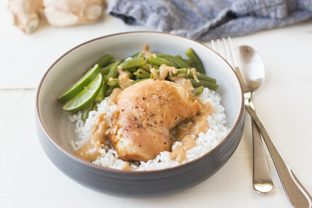 Indonesian Ginger Chicken Thighs