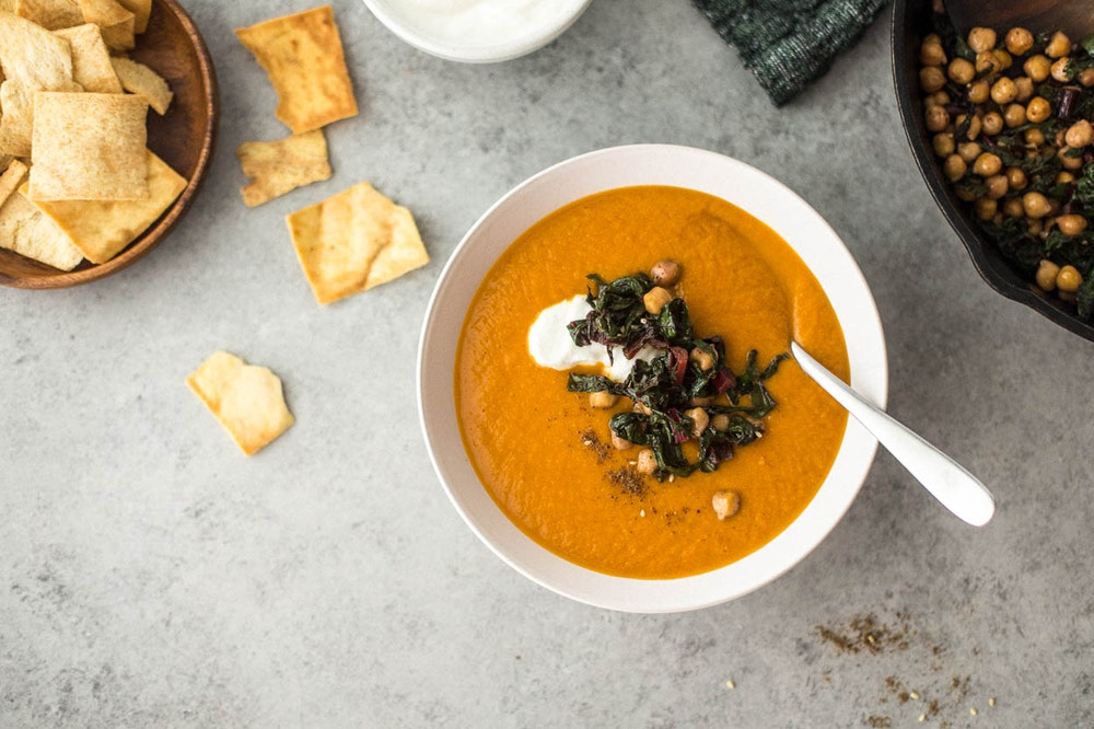 Lemony Za'atar Carrot and Cauliflower Soup