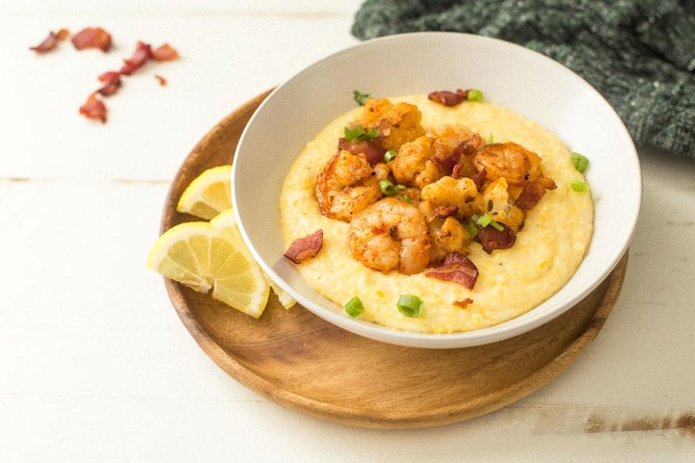 Shrimp, Cauliflower, and Bacon Saute