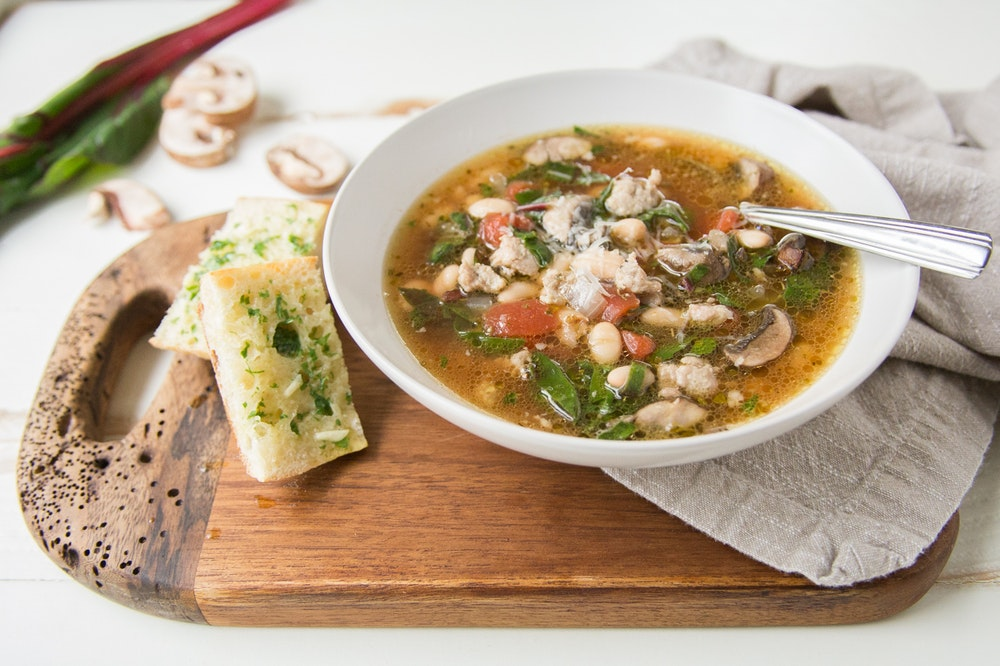 Italian Sausage and Chard Soup