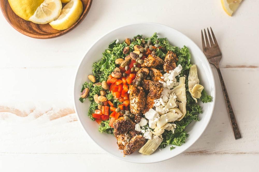 Mediterranean Chopped Chicken Salad