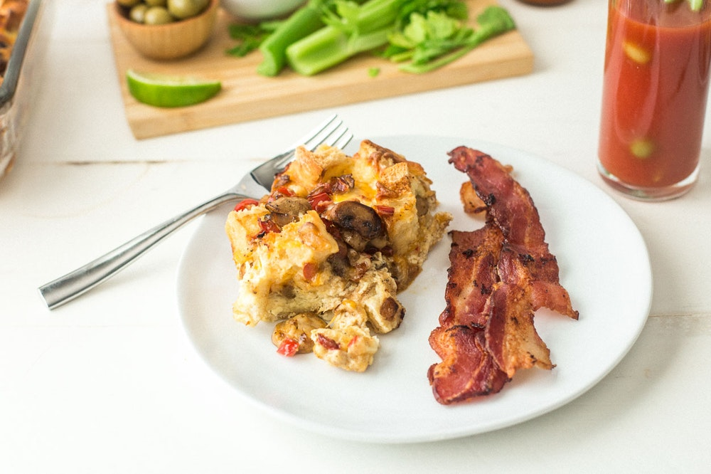 Mushroom, Bell Pepper, and Cheese Breakfast Casserole