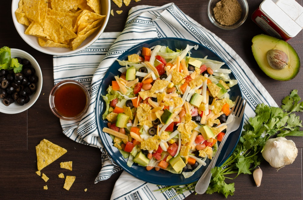 Crunchy Tex Mex Salad with Pinto Beans