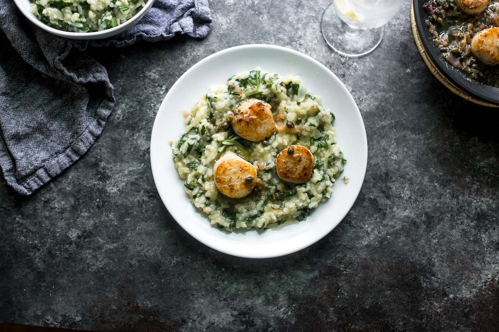 Oven-Baked Risotto with White Beans and Spinach