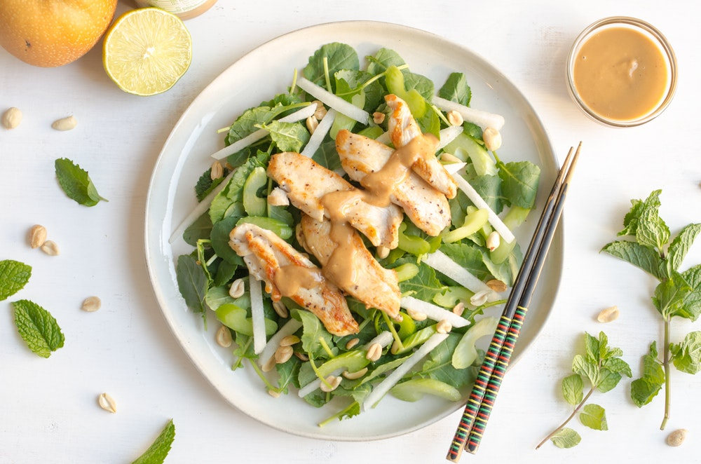 Asian Kale Salad with Chicken