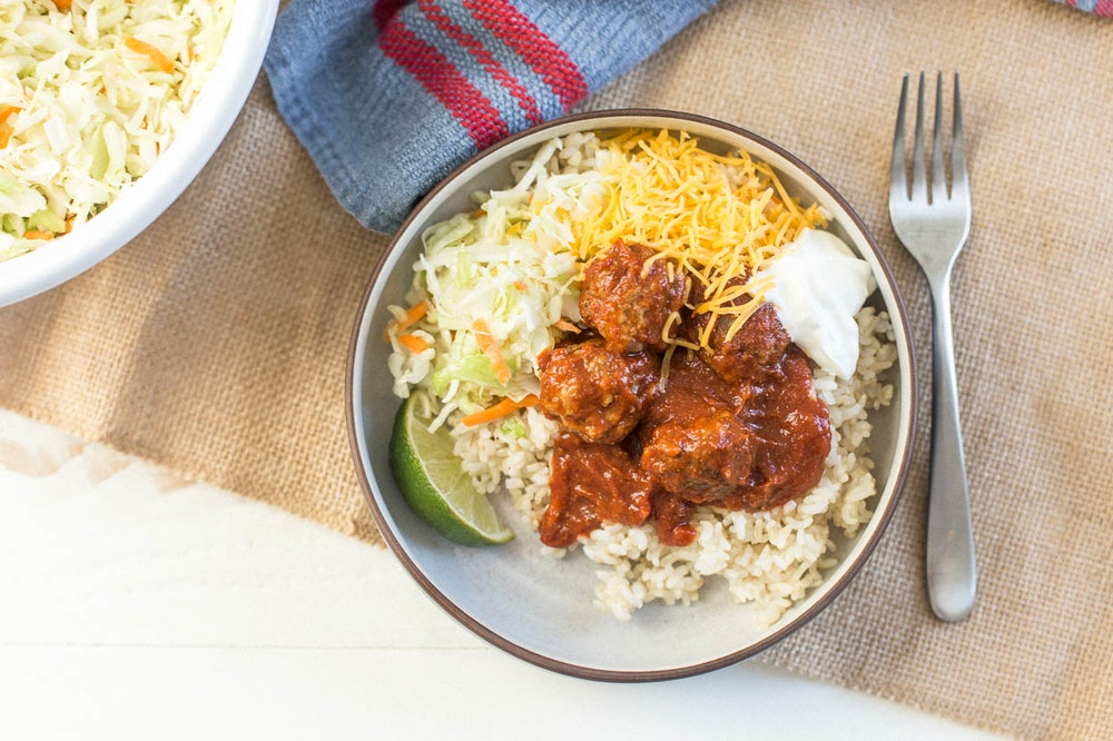 Mexican Meatball Bowls