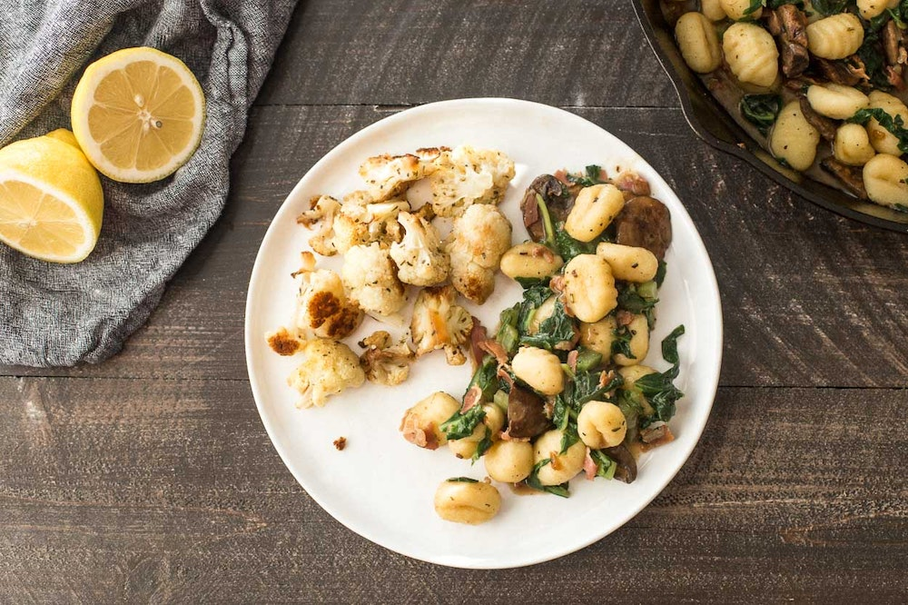 Gnocchi with Swiss Chard and Pancetta