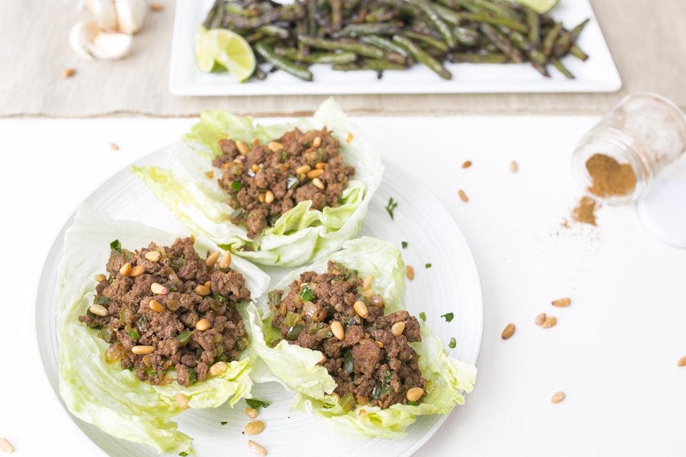 Cumin Tofu and Shiitake Lettuce Cups