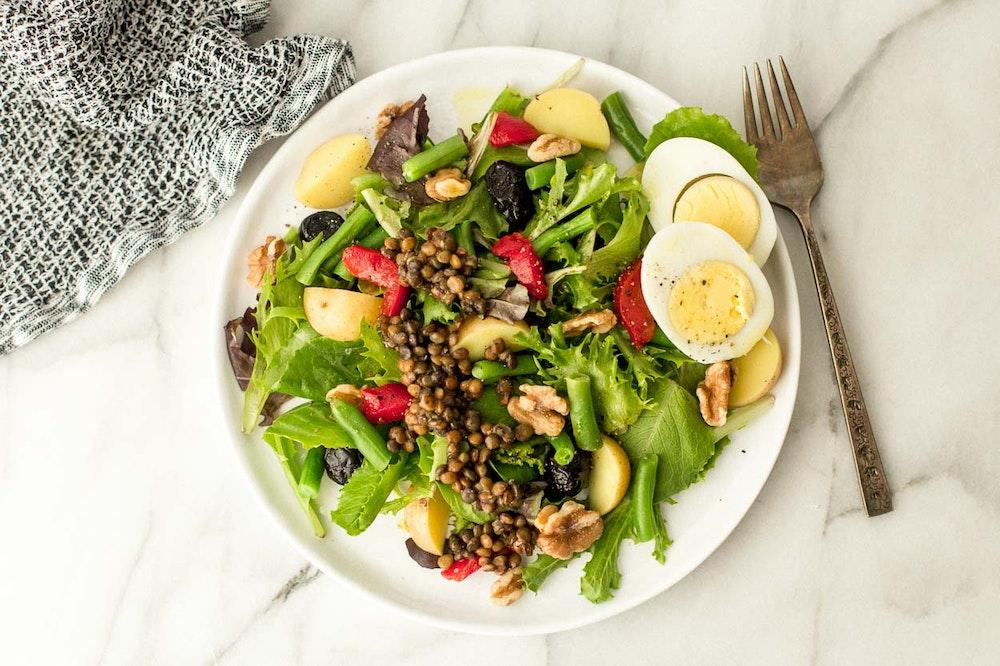 Lentil Nicoise Salad