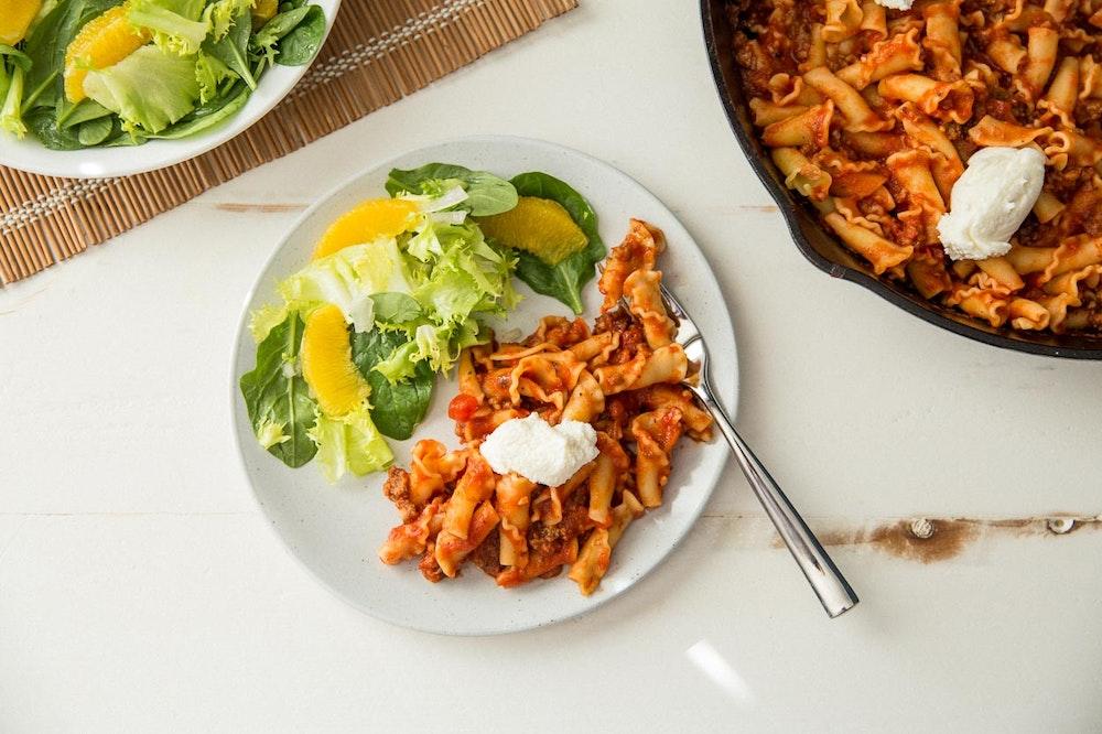 Skillet Lasagna with Italian Sausage