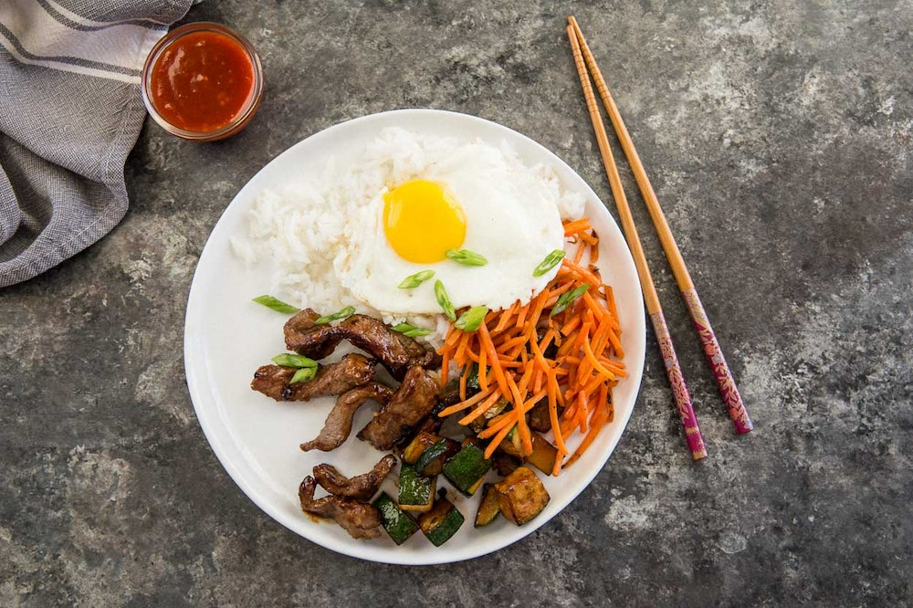 Weeknight Beef Bibimbap