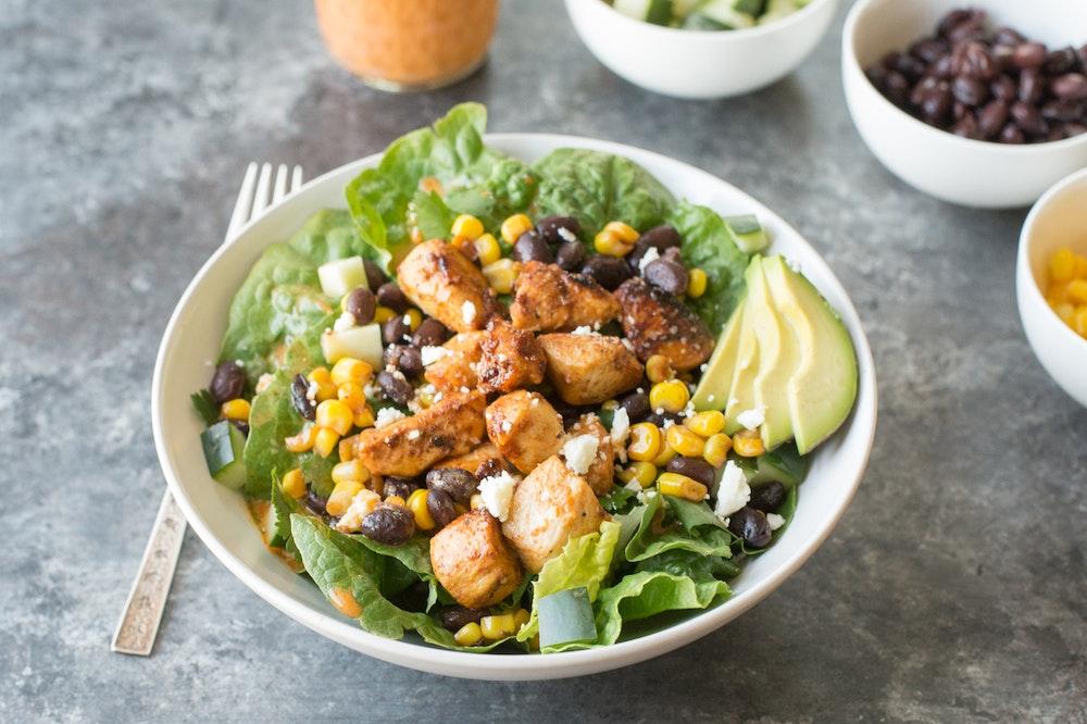 Honey Adobo Chopped Chicken Salad