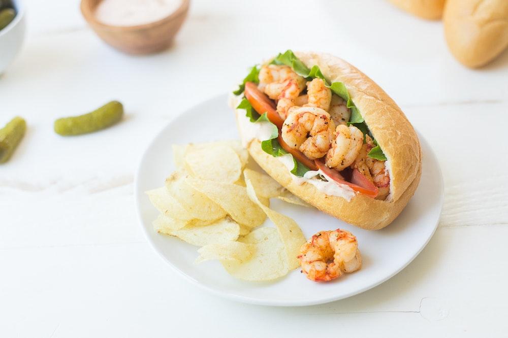 Cajun Shrimp Po' Boy