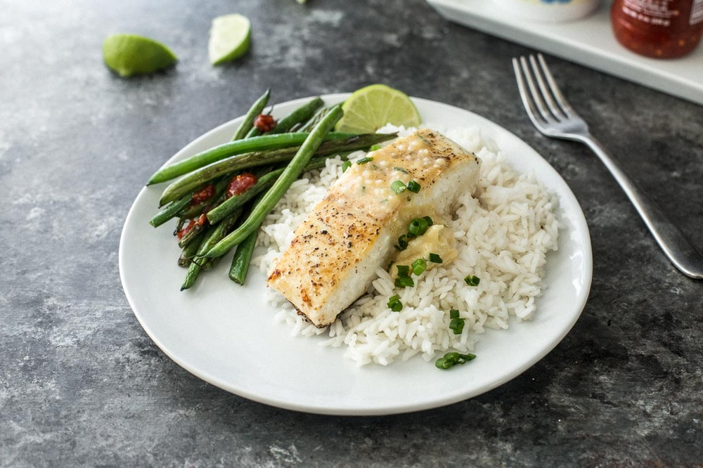 Halibut with Miso Butter