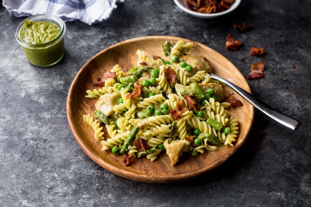 Creamy Chicken and Pesto Pasta