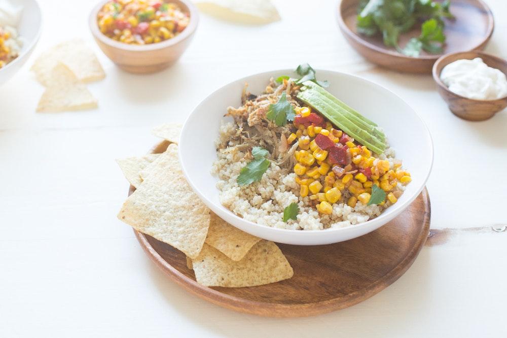 Slow Cooker Carnitas Bowl
