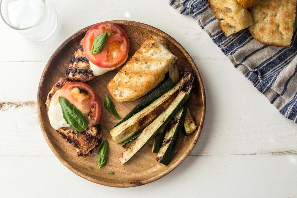 Grilled Panzanella Salad with Focaccia and Lentils