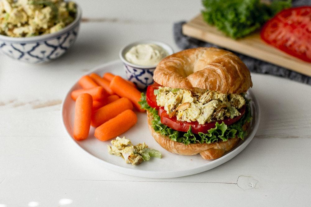 Curried Rotisserie Chicken Salad Sandwich