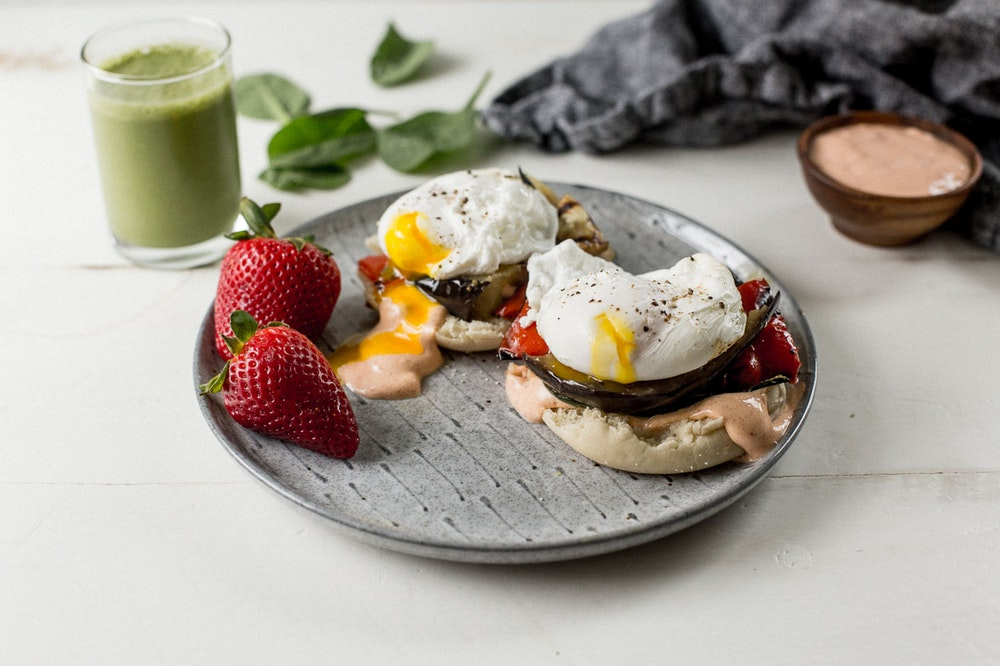 [Leftover] Grilled Vegetable Eggs Benedict