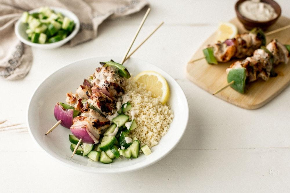 Lebanese Chicken Skewers (Shish Tawook)