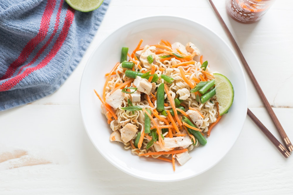 Sriracha Chicken Ramen Salad