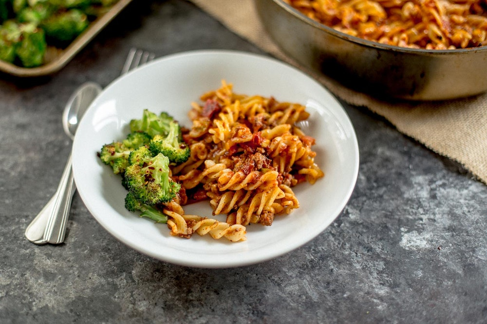 Tex Mex Pasta with Ground Beef