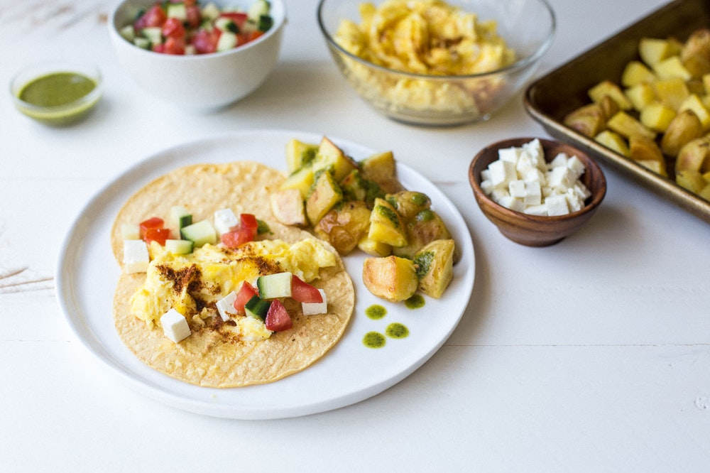Middle-Eastern Breakfast Tacos
