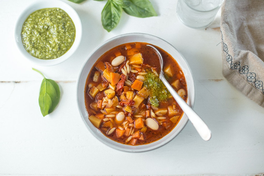 Summer Vegetable and Italian Sausage Soup