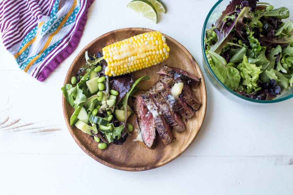 Grilled Steak with Miso Butter