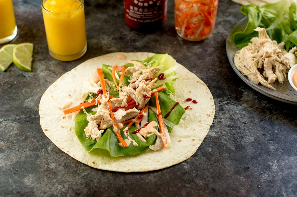 Rotisserie Chicken Banh Mi Wrap