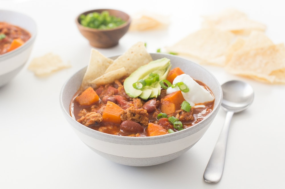 Slow Cooker (or not) Turkey and Sweet Potato Chili