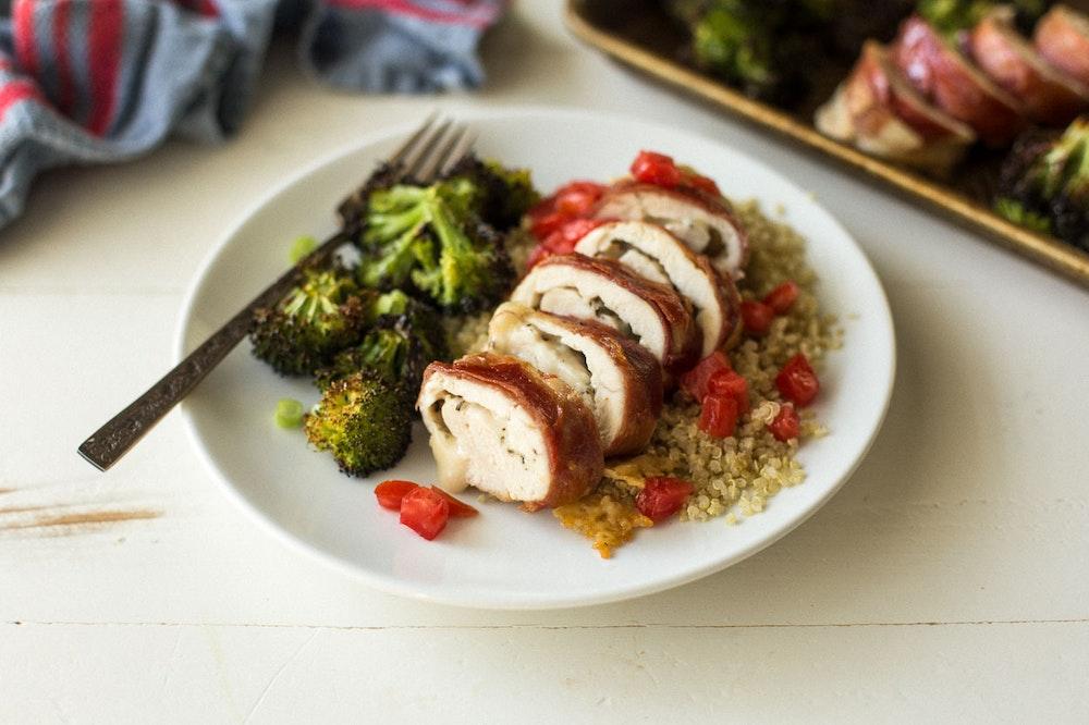 Bruschetta Chicken Roll-Ups