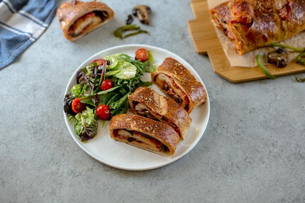 Chicken, Bell Pepper, and Mushroom Saute with Marinara
