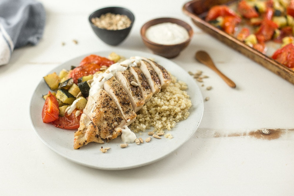 Italian Chicken with Roasted Vegetables