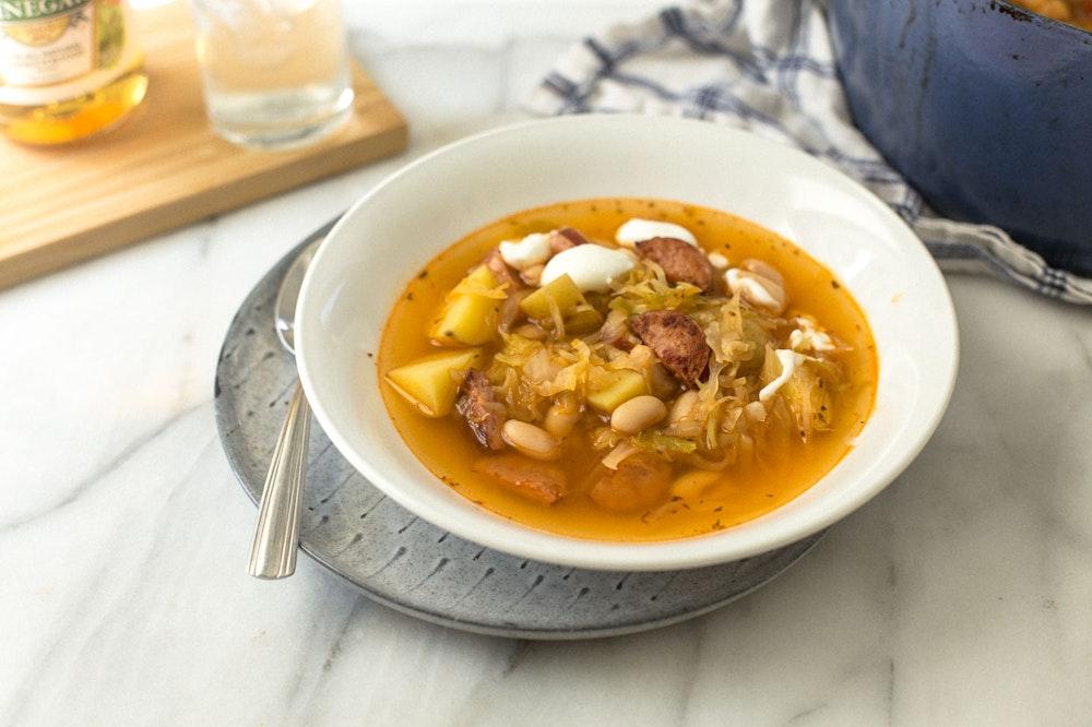 Kielbasa, Potato, and Cabbage Soup