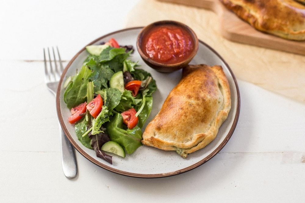 Spinach Calzone with Marinara