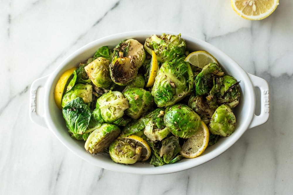 Pan-Seared Za'atar Brussels Sprouts