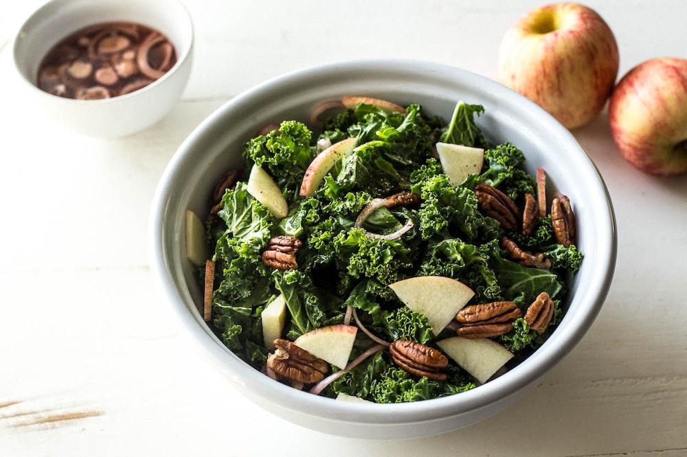 Kale Salad with Apple Cider Vinaigrette