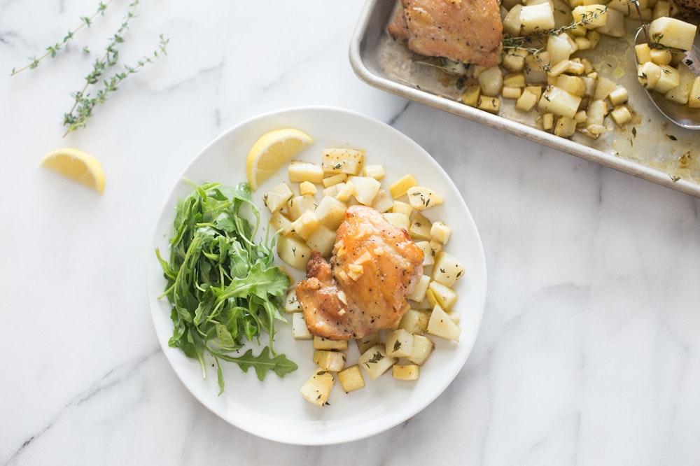 Chicken with Honey Lemon Butter