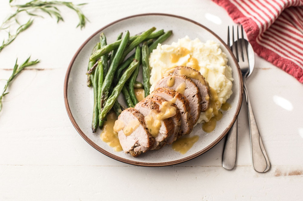 Pork Tenderloin with Tarragon Pan Sauce