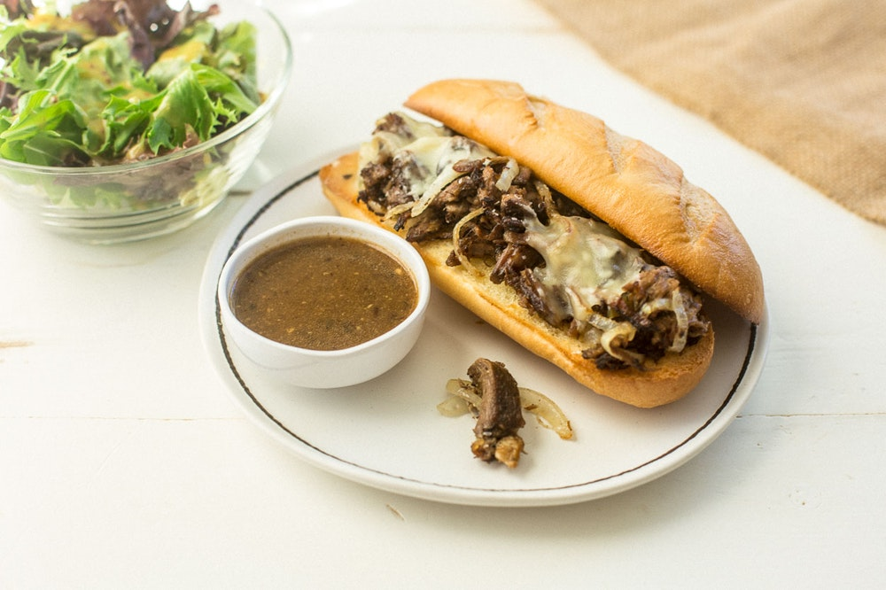 [Leftover] Pot Roast French Dip Sandwich