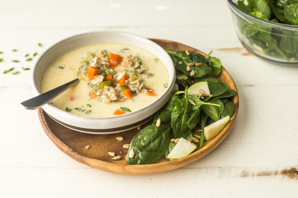 Slow Cooker (or not) Chicken and Wild Rice Soup